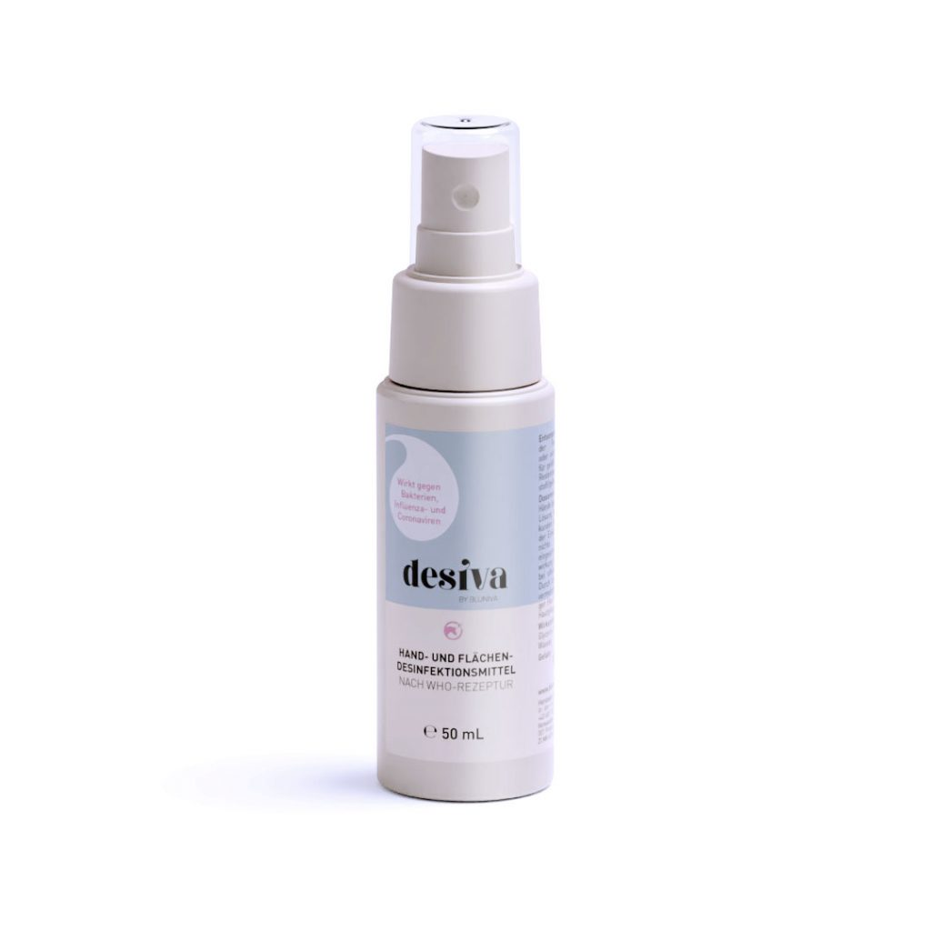 DESIVA Flasche 50 mL Hand- und Flächendesinfektionsmittel